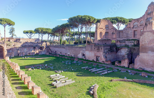 Hippodrome of Domitian (Stadio Palatino) in Rome, Italy. Canvas-taulu