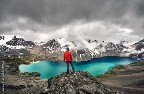 Ala Kul Lake in Kyrgyzstan - 286547266