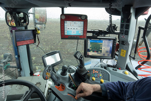 Wallpaper Mural Tractor with GPS system for Planting potatoes