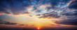 canvas print picture - Panorama twilight sky and cloud at sunset background image