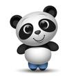 cute cartoon panda toy illustration