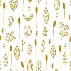 Panel Szklany Podświetlane Skandynawski Seamless hand drawn floral pattern.