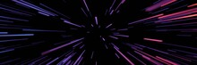 Neon Strip Speed Space Warp, C...
