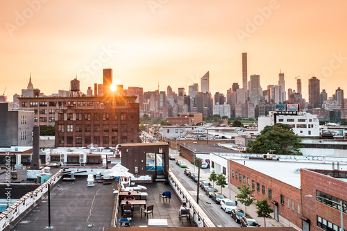 Fotografie, Tablou  Long island City, New York City/ USA - 08 21 2017: Sunset view to the Queensboro