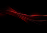 Abstract background waves. Black and red abstract background