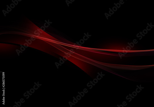 Abstract background waves. Black and red abstract background - 286575099