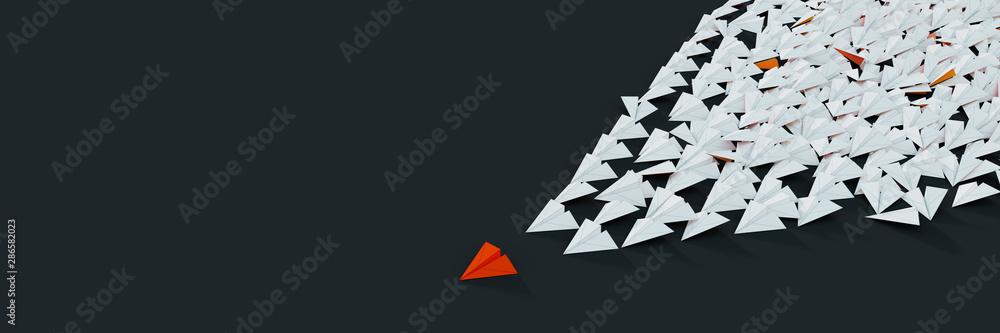 Fototapeta Leadership and victory concepts, 3d rendering illustration