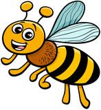 honey bee insect character cartoon illustration - 286592029