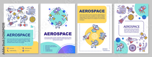 Aerospace industry template layout Canvas Print