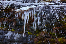 Nice Big Icicles In The Mounta...