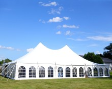 A White Large Events Or Entertainment Tent