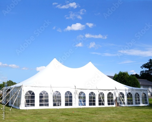 Obraz a white large events or entertainment tent - fototapety do salonu