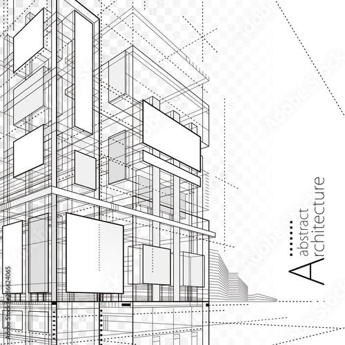 Fotografija Architecture building construction urban 3D design abstract background