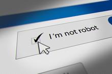 "Mouse Cursor Clicking CAPTCHA ""I'm Not Robot"" Checkbox."