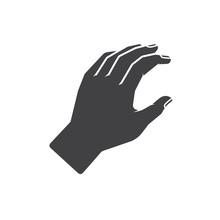 Human Hand Vector Icon Illustration
