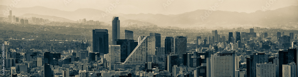 Fototapety, obrazy: Mexico City Panoramic Skyline Cityscape