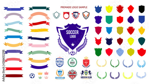 Cuadros en Lienzo Soccer, football logo templates Creation Kit