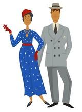 Retro Fashion, 1930s Style Clo...