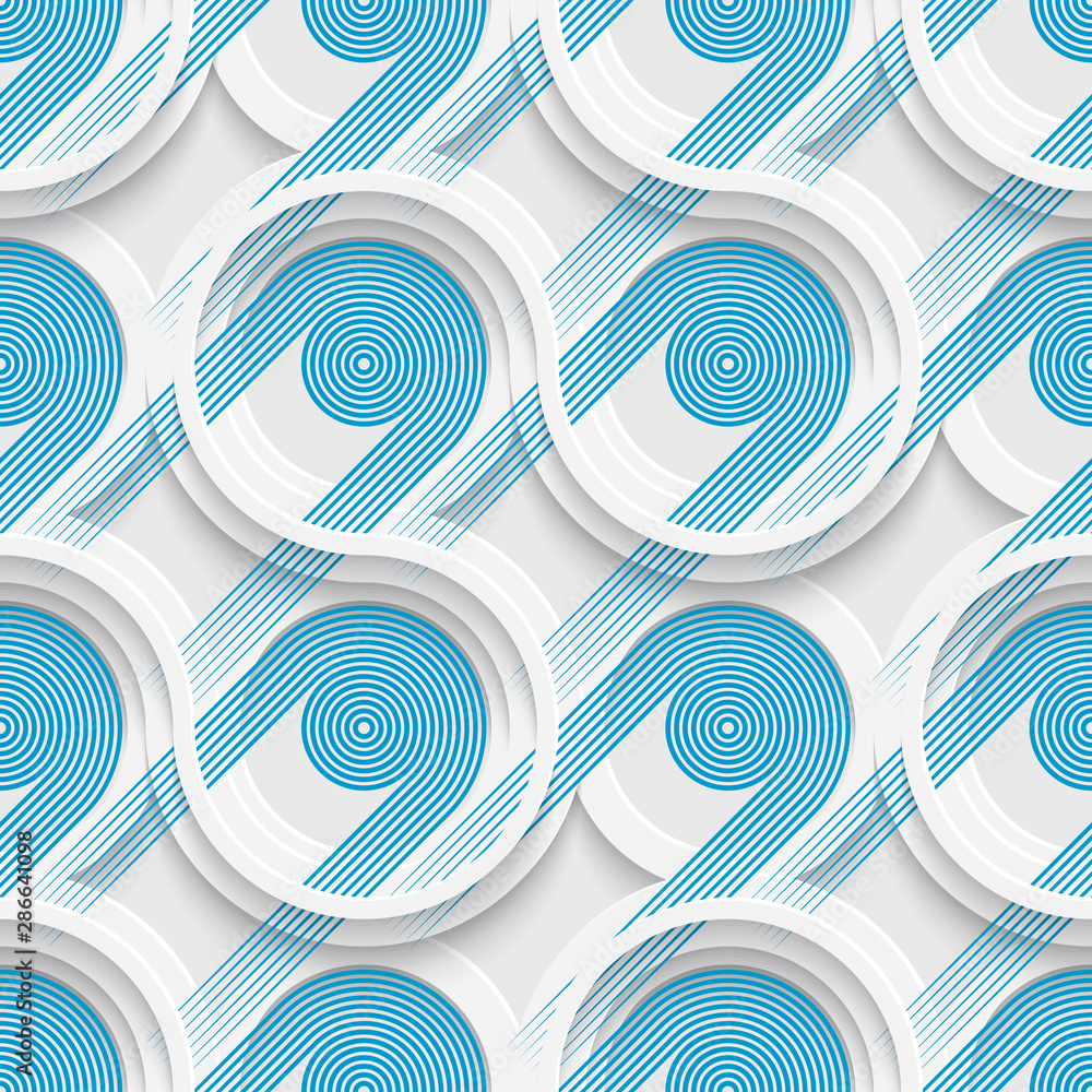 Seamless Striped Background. Vector Blue Pattern