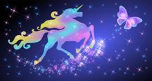 Iridescent Unicorn With Luxuri...