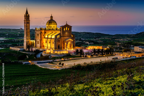 The Basilica of the National Shrine of the Blessed Virgin of Ta' Pinu at Gozo, M Slika na platnu