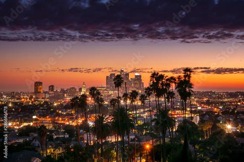 Downtown Skyline Los Angeles, California Wallpaper Mural