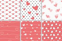 Alentine Heart Seamless Patter...