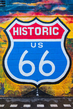 Historic Route 66 Sign In The USA