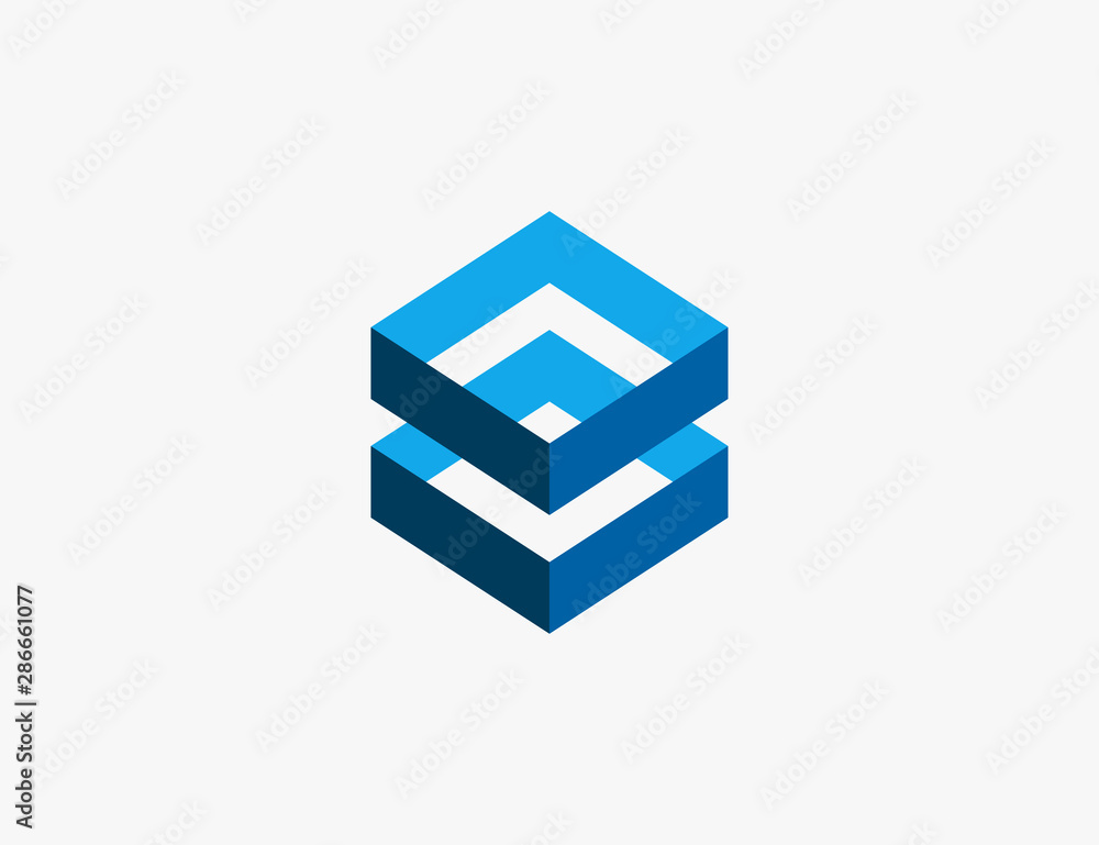 Fototapeta Abstract Hexagon Logo Design Vector Illustration