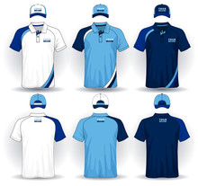 Set Of Uniform Template, Polo ...