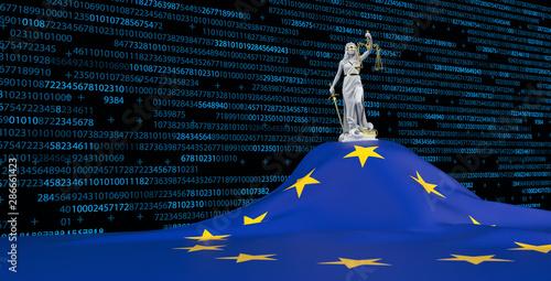 Obraz na plátne Legal framework for digitisation in the EU