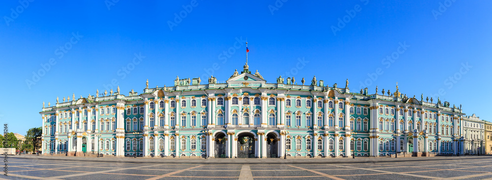Fototapety, obrazy: St. Petersburg, Russia. State Hermitage Museum. View from the Palace Square