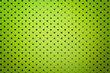 canvas print picture - Light green background from metal foil paper with a silver stars pattern.
