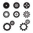 set of gears.vector