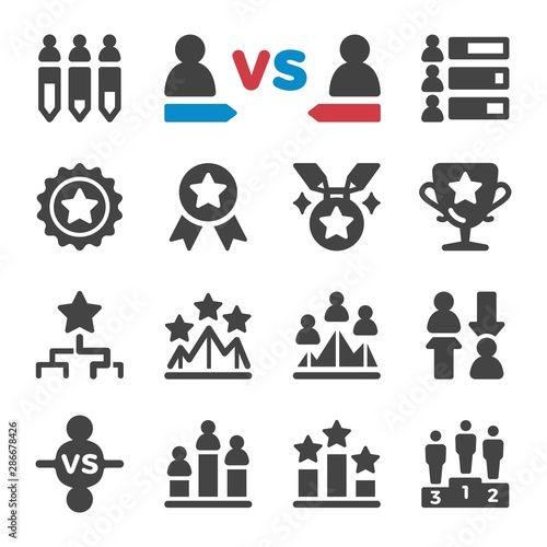 competition and challenge icon set,vector and illustration Wall mural