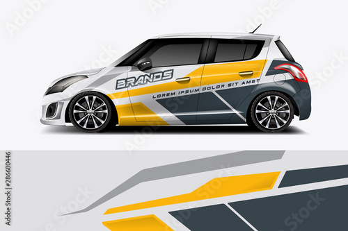 Fotomural Car decal wrap design vector