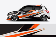 Car Decal Wrap Design Vector. ...