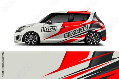 Obraz na plátne Car decal wrap design vector