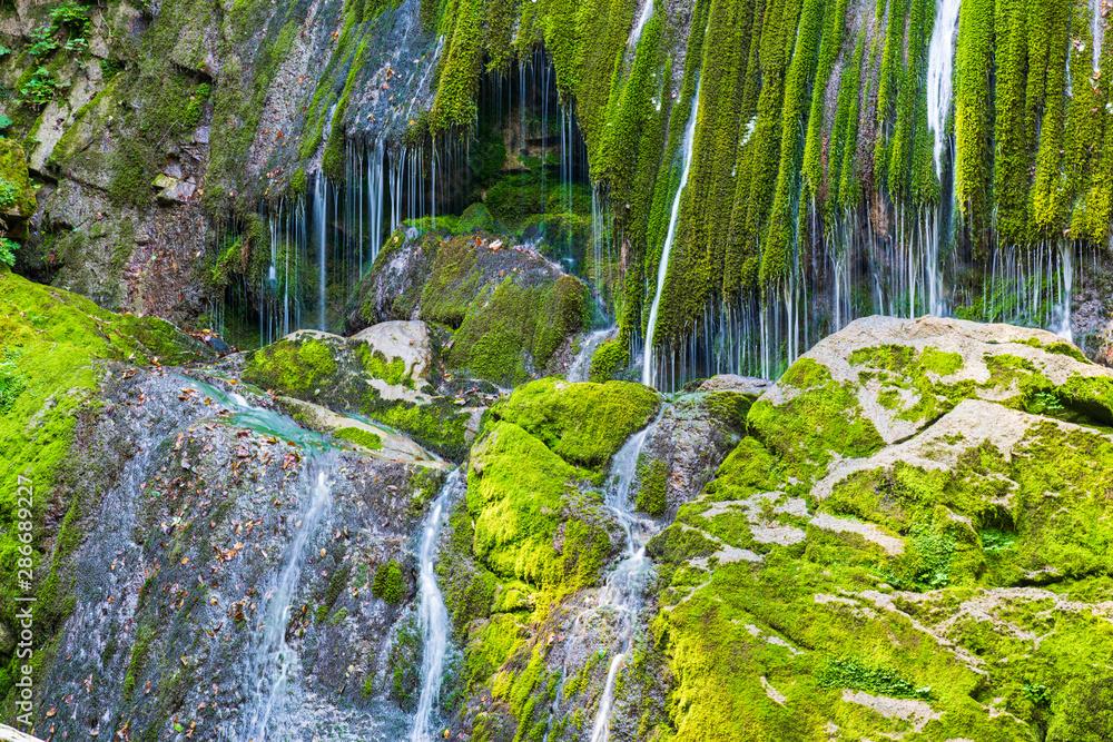 Fototapety, obrazy: Horrid and waterfalls of the Boncic. Taipana. Udine, Friuli. Italy