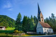 A Small Church In An Alpine Village