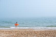 Fog On The Beach In Summer.
