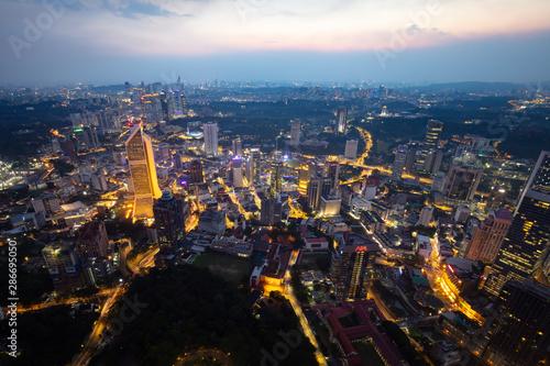 Door stickers Kuala Lumpur Aerial View of Kuala Lumpur