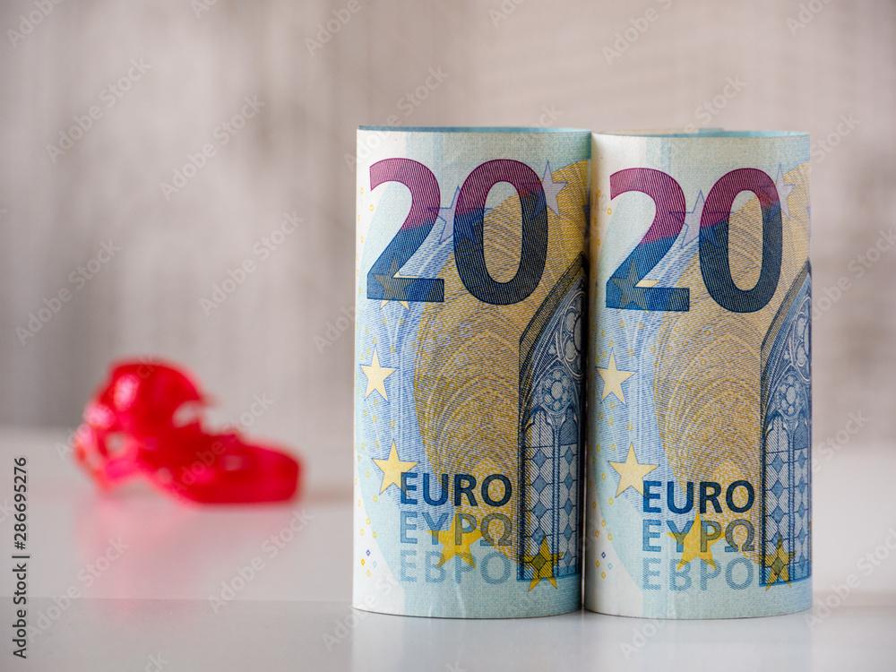 Fototapety, obrazy: 2020 Happy New Year Postcard Background Concept Idea New