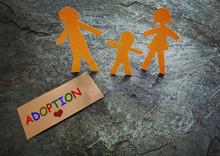 Paper Family Adoption Concept