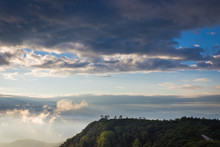 Landscape Background And Beautiful Cloud In Morning At Phu Rua, Loei, Thailand.
