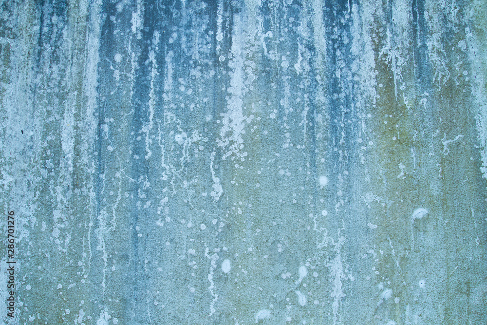 Fototapety, obrazy: Old blue weathered wall background