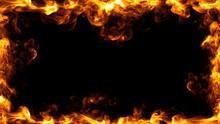 Fire Frame Design. 3D Illustration