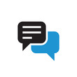 Message chat icon design. Speech bubble communication. Vector illustration.