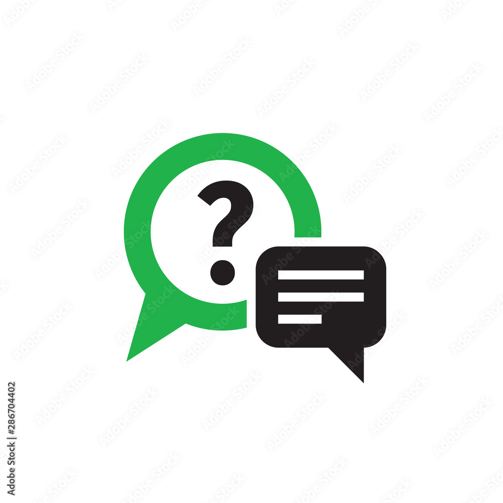 Fototapeta Question answer chat icon design. Consulting help sign. Vector illustration.