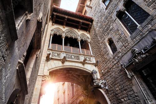 Barri Gotic Quarter in Barcelona, Spain Canvas Print